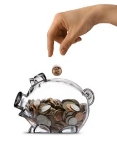 Piggy Bank Savings Female Half Filled